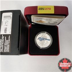 CHOICER OF 14: RCM 2015 $10 Fine Silver Coin - Colourful Songbirds of Canada - The Blue Jay (99.99%