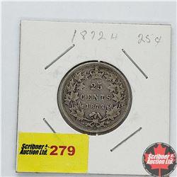 Canada Twenty Five Cent 1872H