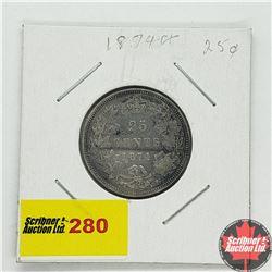 Canada Twenty Five Cent 1874H