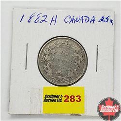Canada Twenty Five Cent 1882H