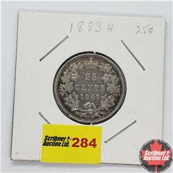 Canada Twenty Five Cent 1883H