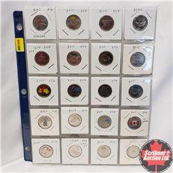 Canada Twenty Five Cent Variety - Sheet of 20: 2003; 2011; 2011; 2000; 2004; 2011; 2011; 2015; 2010;