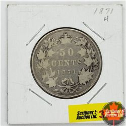 Canada Fifty Cent 1871H
