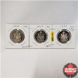 Canada Fifty Cent - Sheet of 3: 1968; 1969; 1987