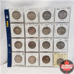 Canada Fifty Cent - Sheet of 16: 1943; 1944; 1945; 1946; 1947ML S7/7/7; 1947ML S7/7/7; 1947 S7; 1947