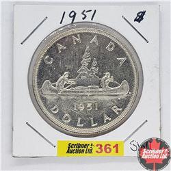 Canada One Dollar : 1951