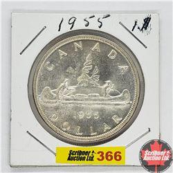 Canada One Dollar : 1955