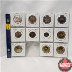 Canada Variety - Sheet of 11: $3 2017; Toonie (2017; 2017); Loonie (2017; 2016; 2016); Fifty Cent (2