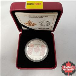 CHOICE OF 4: RCM 2018 $20 Fine Silver Coin - Canadian Flag (99.99% Pure)