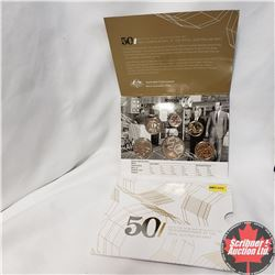 """2015 Six Coin Uncirculated Set """"50th Anniversary of the Royal Australian Mint"""""""