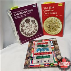 2016 Charlton Coin Guide & 2013 Charlton Standard Catalogue & Coins of the World Collector Folder