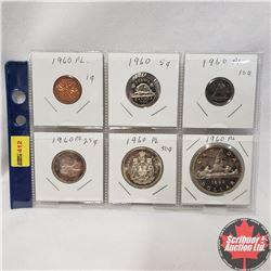 Canada 1960: 1¢; 5¢; 10¢; 25¢; 50¢; $1