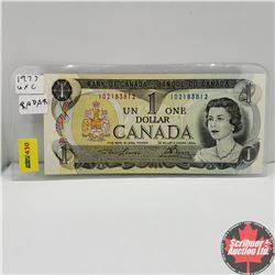 """Canada $1 Bill 1973 Lawson/Bouey ID2183812  """"Radar"""""""