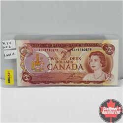 """Canada $2 Bill 1974 Lawson/Bouey AGH9780879 """"Radar"""""""