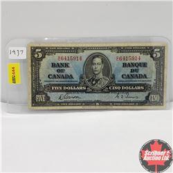 Canada $5 Bill 1937 : Gordon/Towers BC6415914