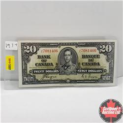CHOICE OF 2: Canada 1937 $20 Bill : Coyne/Towers JE7081406