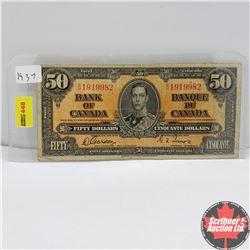 Canada $50 Bill 1937 : Gordon/Towers BH1919982