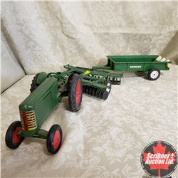 Combo: Oliver Tractor with Tandem Disc and Manure Spreader (Scale: 1/16)