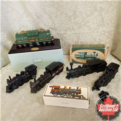 Tray Lot: Avon Collectibles Locomotive Theme (5)