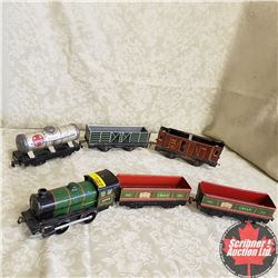 Hornby Tin Wind Up Locomotive with 5 Cars (O Gauge)