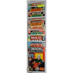 10 OLD WAR COLLECTOR COMICS