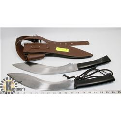 KUKRI STYLE REPLICA MACHETE SET OF TWO