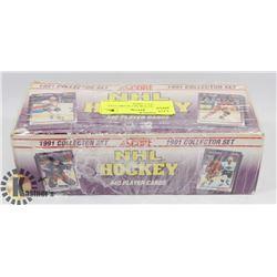 1991 COLLECTOR SET SCORE FULL SET HOCKEY CARDS