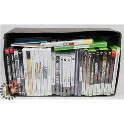 BOX OF 31 PS2 PS3 WII XBOX GAMES.