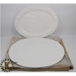 LOT OF 2 NEW LARGE TURKEY PLATTERS BY ALPINE