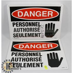 BUNDLE OF FRENCH DANGER SIGNS