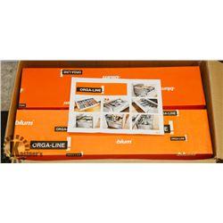 BOX OF 6 NEW BLUM PAN DRAWERBOX SIDES.