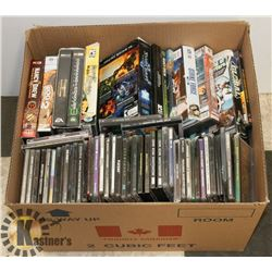 BOX OF 75+ ASSORTED PC GAMES.