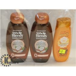 BAG OF GARNIER WHOLE BLENDS SHAMPOO AND CONDITIONER
