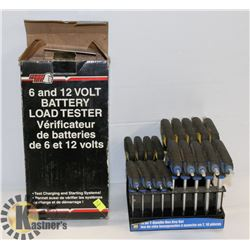 BATTERY TESTER  ALLEN KEYS METRIC AND STANDARD