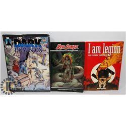 DARK DOMINION COLLECTOR CARDS, RED SONJA BOOK &