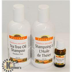 BAG OF TEA TREE OIL AND TEA TREE SHAMPOO