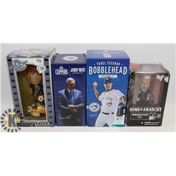 SET OF 4 BOBBLE HEADS NEW IN BOX