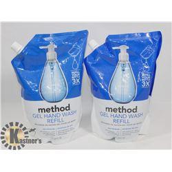 BAG OF METHOD GEL HAND WASH REFILLS