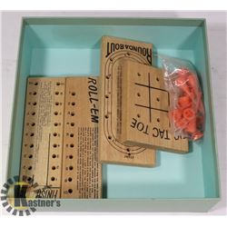 SET OF VINTAGE CABIN PEG GAMES