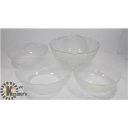 4PC LEAF THEME SERVING BOWL SET