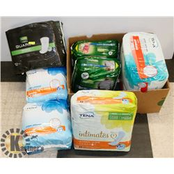 BOX OF ASSORTED INCONTINENCE BRIEFS