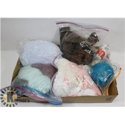 LOT OF ASSORTED WOOL AND LACE TRIM