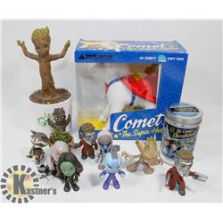 FLAT WITH ASSORTED DC COLLECTIBLES INCLUDING