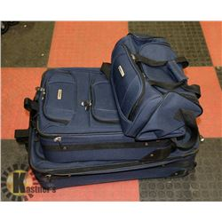 "SET OF 3  SUITCASES-26"", CARRY CASE AND TOTE"