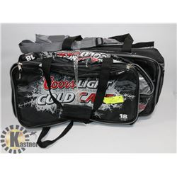 PACK OF 4 NEW COORS LIGHT COOLERS (1 BACKPACK).