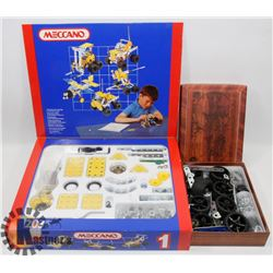 MECCANO BUILDING SET WITH EXTRAS.