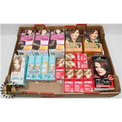 FLAT OF ASSORTED HAIR COLOUR