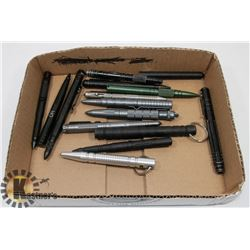 FLAT OF TACTICAL PENS AND PUNCHES