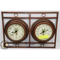 WALL HANGING CLOCK AND TEMPERATURE