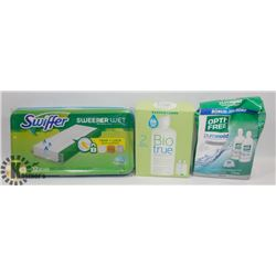 FLAT OF SWIFFER WET REFILLS AND MORE